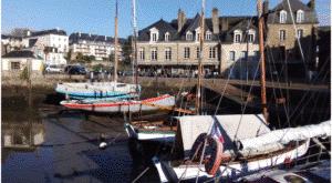 bateaux port de plaisance marée basse bretagne