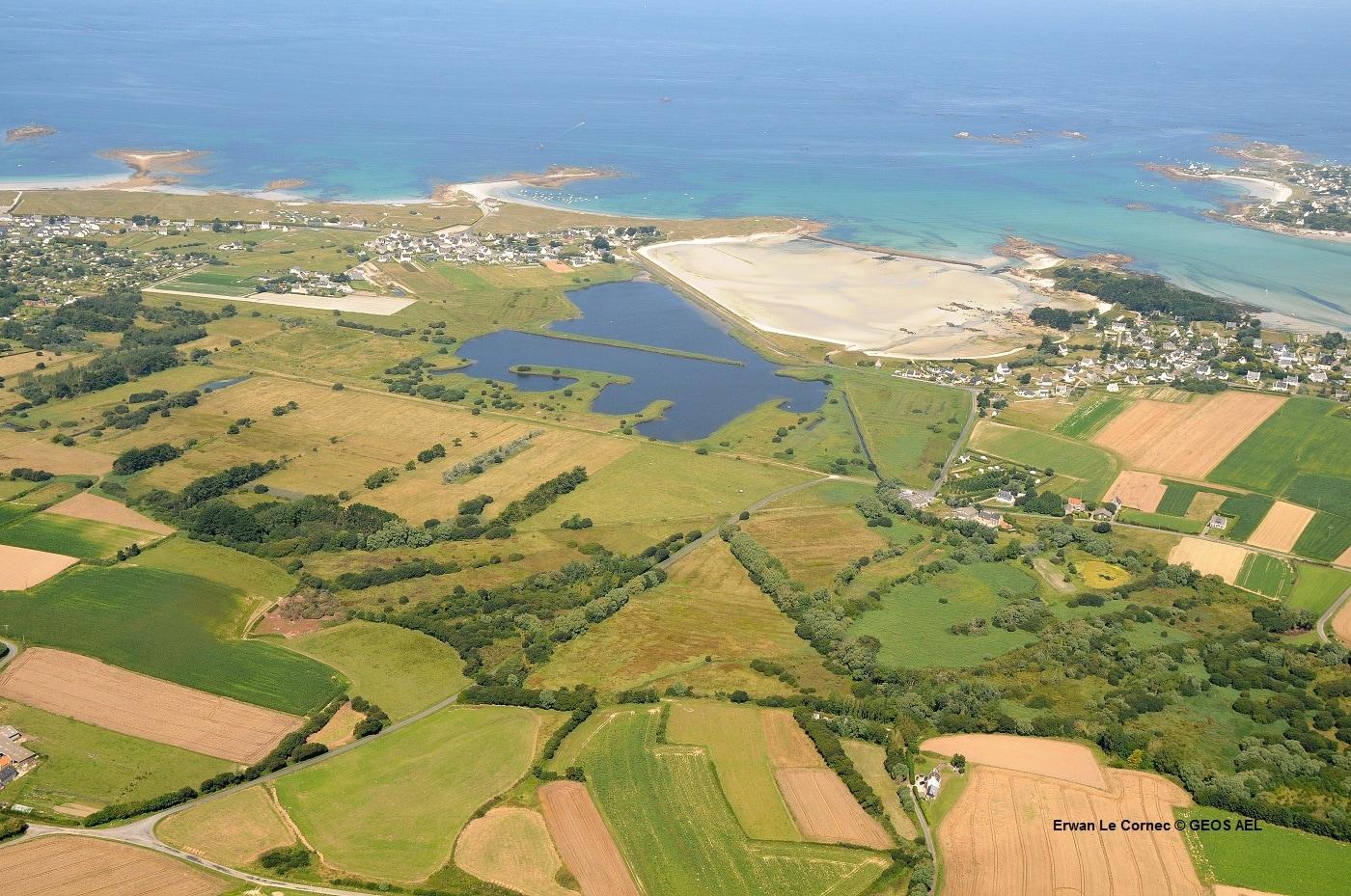 agriculture et habitations en zone littoral à risque à Guisseny en bretagne