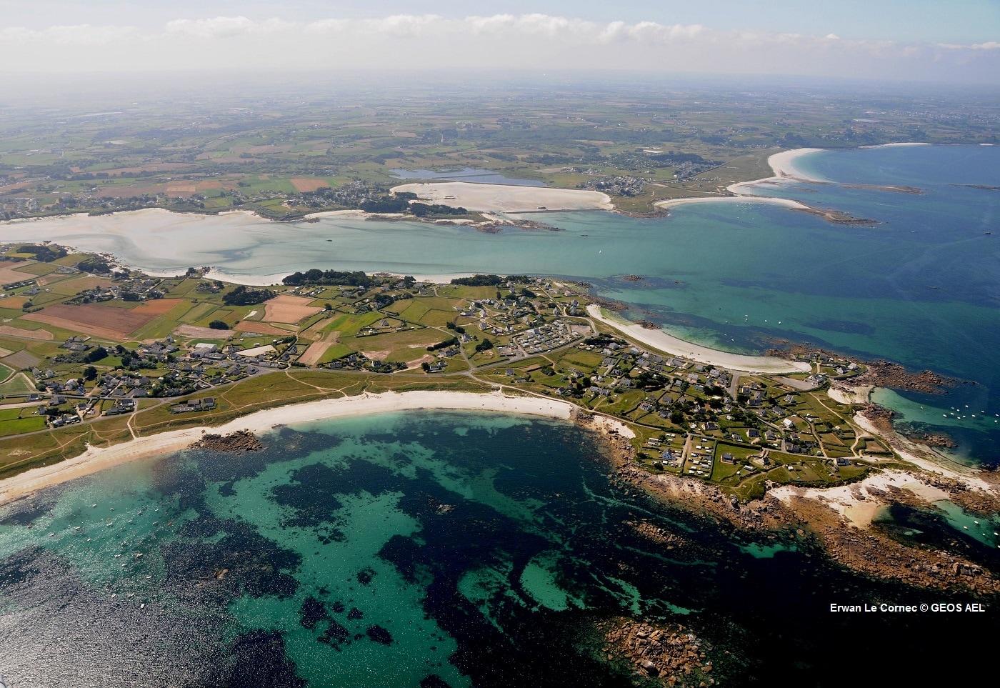 Risques côtiers à Guisseny en Bretagne et etude Cocorisco de l'Université de Bretagne Occidentale