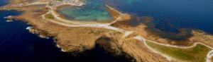 vue aérienne d'une d'une côte en bretagne réglementation plan submersion