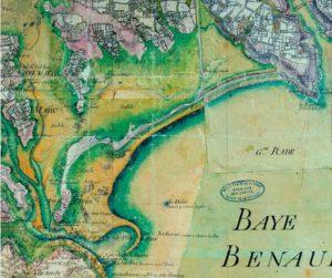 cartographie du littoral de combrit ile tudy au 17ème siecle