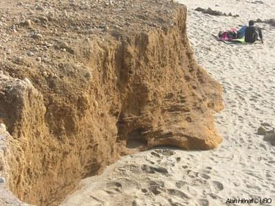 photographie des sédiments sur une plage bretonne