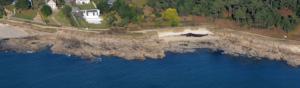 photographie aérienne de la côte bretonne mise en place du PCI et Majic