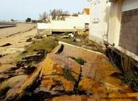 débris sur la plage de fourras