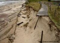 plage de Kerguelen et dégats erosion