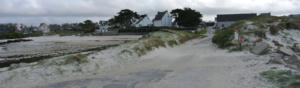 erosion des plages, des falaises et des littoraux sur la côte bretonne