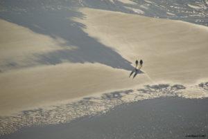 couple de promeneurs sur une plage