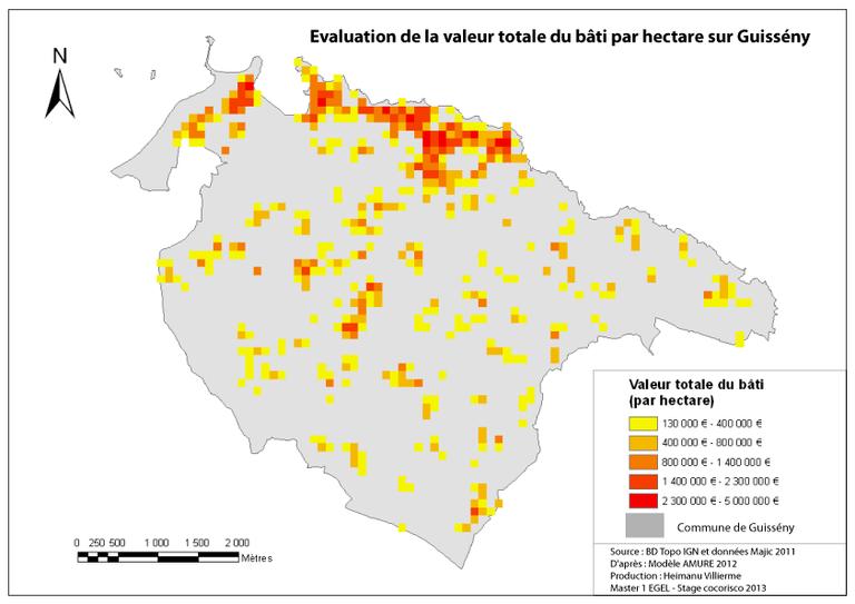 schema explicatif démarche d'évaluation de la valeur du bâti