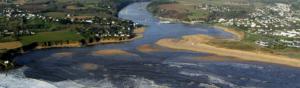 photographie aérienne terre et mer en Bretagne