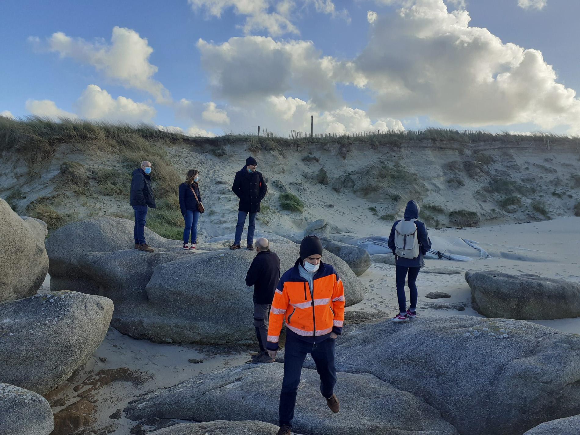 étude des possibilités d'aménagements du cordon dunaire en érosion sur la plage de Boutrouilles (29)