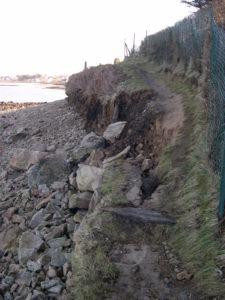 Portion du GR34 après tempête (mars 2008)